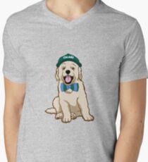 Tulane University Pup Men's V-Neck T-Shirt
