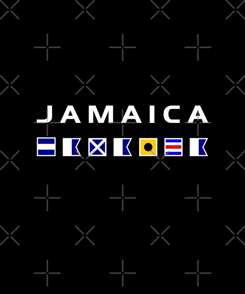 Jamaica Nautical Maritime Sailing Flags Dark Color by TinyStarAmerica