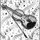 The Love Violin by Méia Jacobs