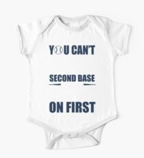 You can't steal second base with your foot on first - red/blue Kids Clothes