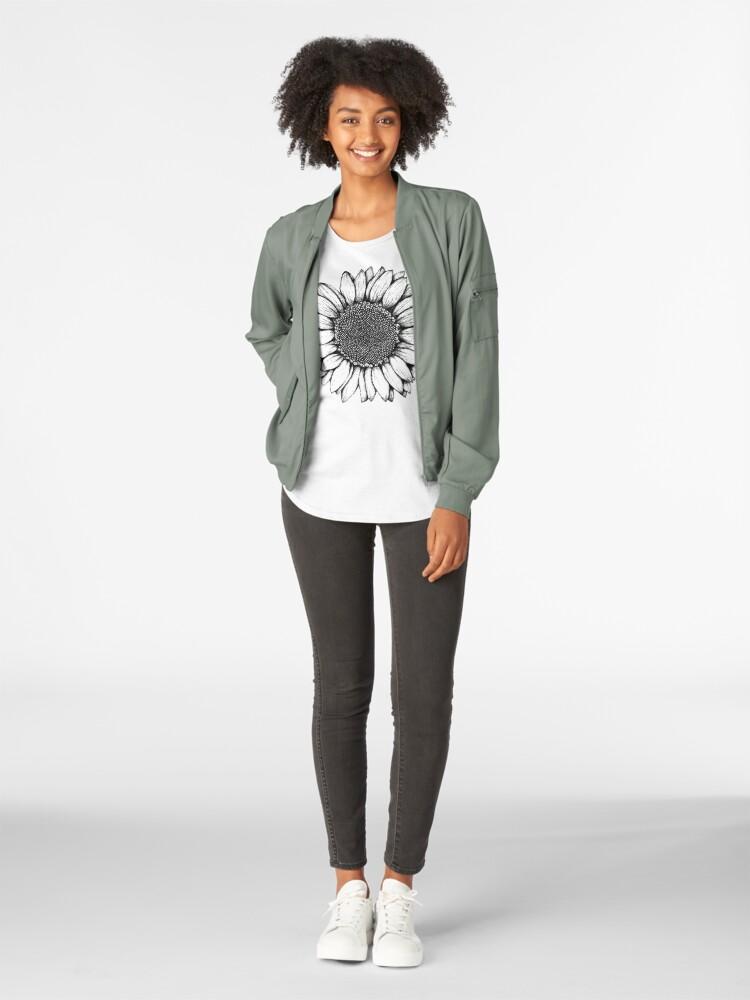 Alternative Ansicht von Sonnenblume Premium Rundhals-Shirt