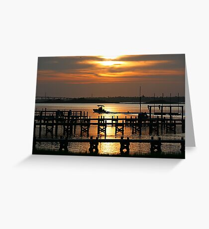 Evening Glass Off Greeting Card