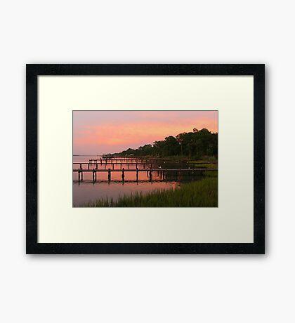 Soundside Evening Framed Print