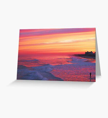 Pastel Sunset Greeting Card