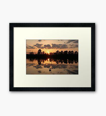 Sunset at River Park North Framed Print