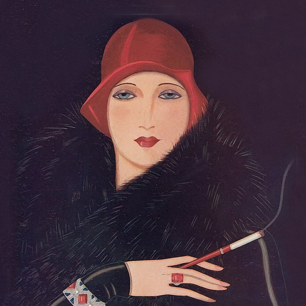 Art Deco Flapper by Happy Dog Swag