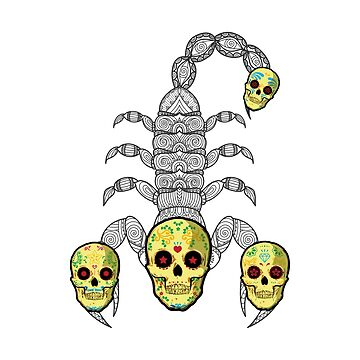 Funny Scorpion - Skull Heads - Poisonous Venom by stuch75