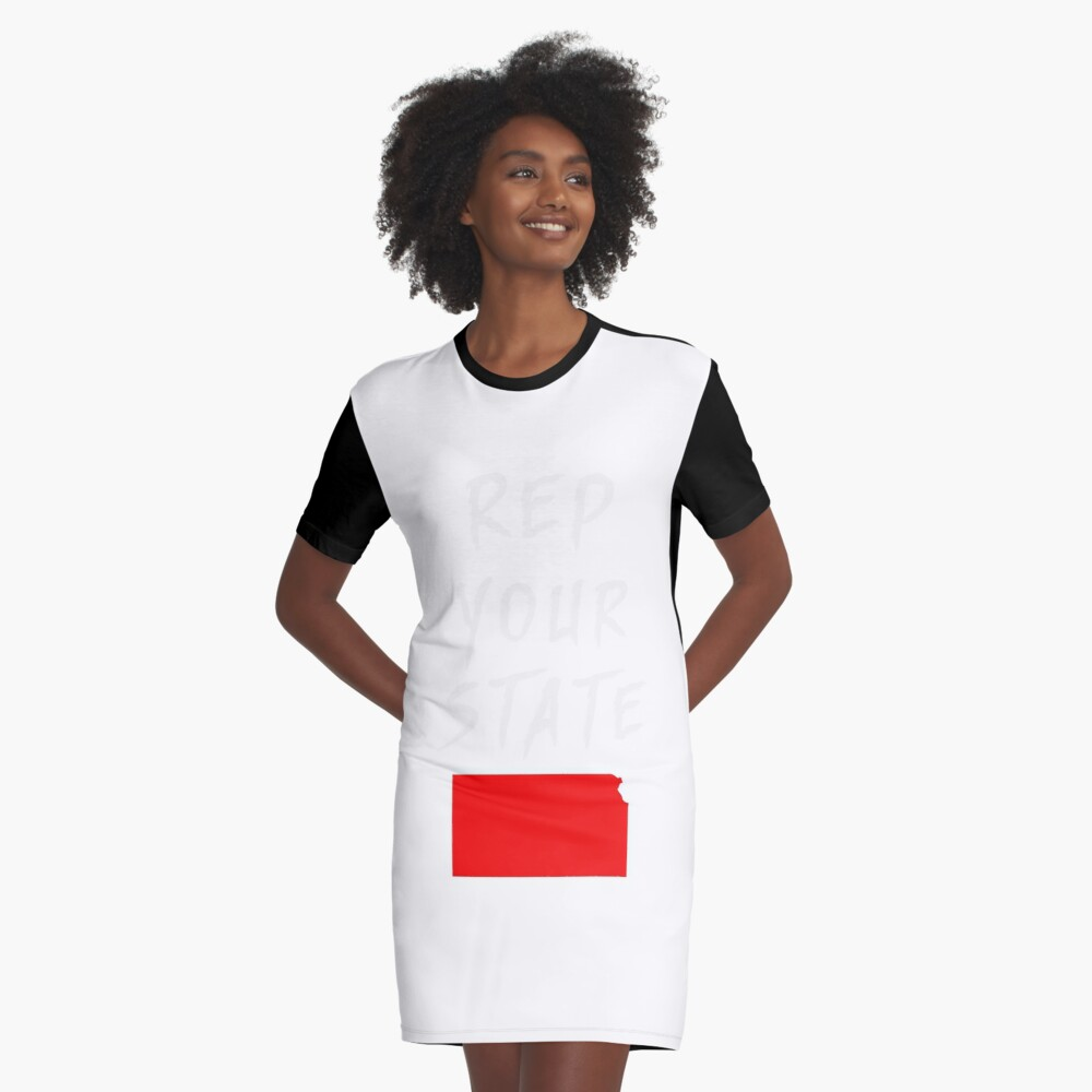 REP YOUR STATE KANSAS Graphic T-Shirt Dress
