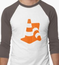 Traffic cones two safety pylons markers Men's Baseball ¾ T-Shirt