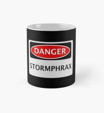 DANGER STORMPHRAX FAKE ELEMENT FUNNY SAFETY SIGN SIGNAGE Tasse (Standard)