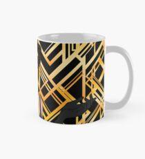 Art Deco, Gold, Schwarzes, Prallplattenmädchen, der große Gatsby, Ära 1920, Vintag, elegant, Chic, modern, modisch Tasse