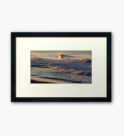 Morning Shorebreak Framed Print