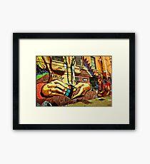 Idol Hands Framed Print