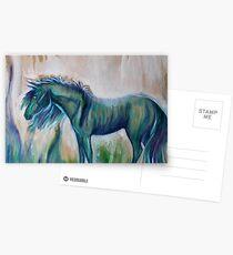 Little Blue Pony  Postcards