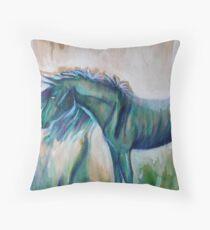 Little Blue Pony  Throw Pillow