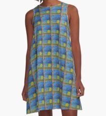 Slammin Lachs A-Linien Kleid