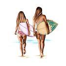 Surf Buddies by Elza Fouche