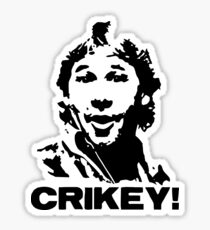 Crikey Crocodile Hunter Sticker