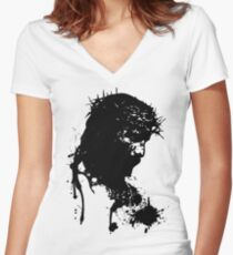 blood_saviour Women's Fitted V-Neck T-Shirt