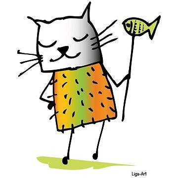 Cat drawing by liga-art