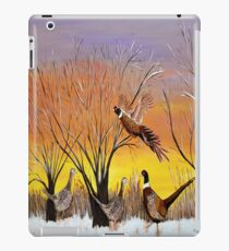 Phesants in the sunsrise  iPad Case/Skin
