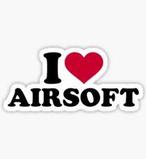 I love Airsoft Sticker