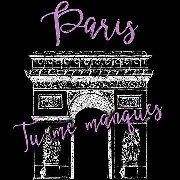 Paris France Gifts - I Miss You - Cool Vintage, Souvenir by sparkpress