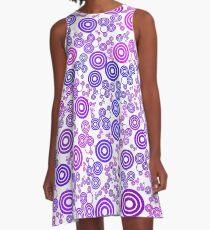 colores círculos circunferencias  A-Line Dress