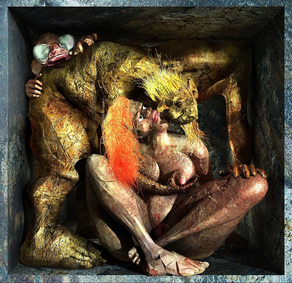 "Ecce Homo 82 "" NATURE VS. NATURE I "" ( Lust vs. Envy ) by Polygonist"