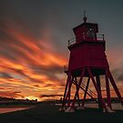 Sunset at Herd Lighthouse by Great North Views
