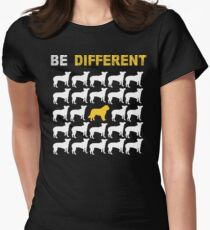 Saint Bernard Lovers - Be Different - Sweet Gift For Passionate Dog Lovers  Women's Fitted T-Shirt