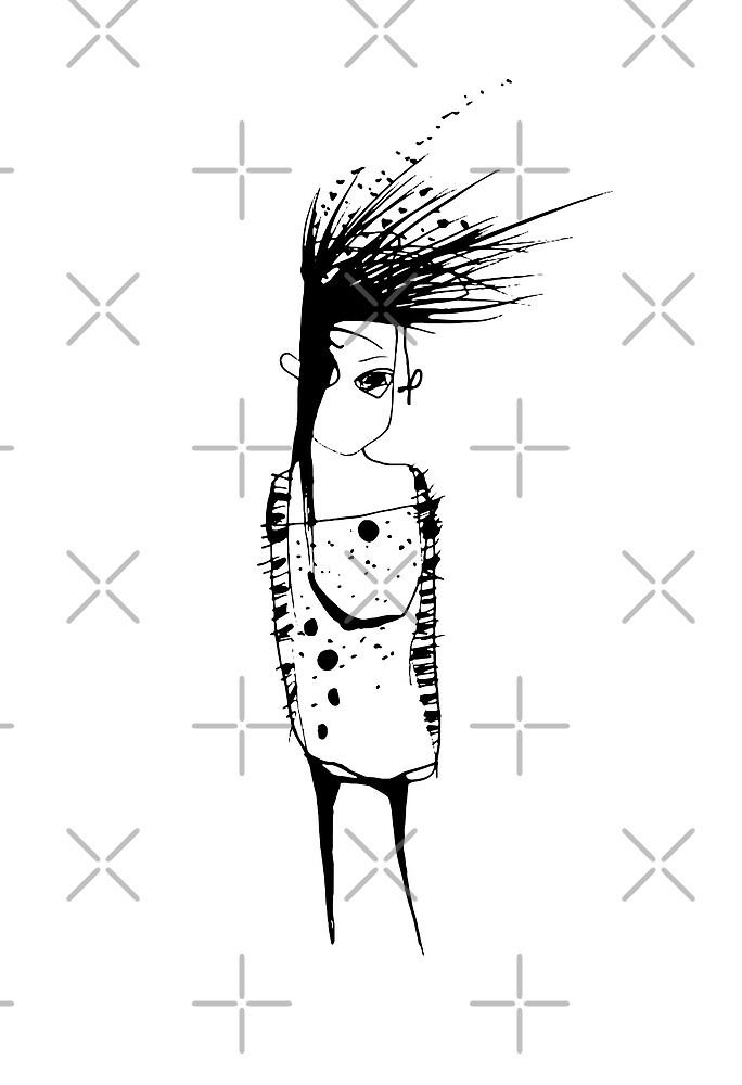 Alone - sad human by liga-art