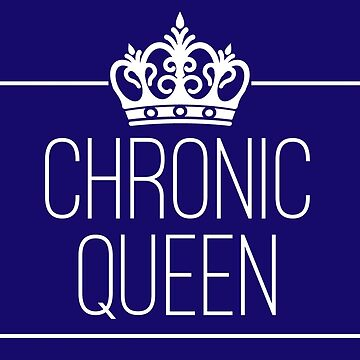 Chronic Queen - stickers, mugs + prints in navy by chroniccoral