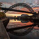 Tyne Bridge Sunrise Reflected  by Great North Views