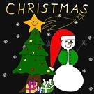 Christmas, Weihnachten, Schneemann, Weihnachtsbaum, Advent von rhnaturestyles