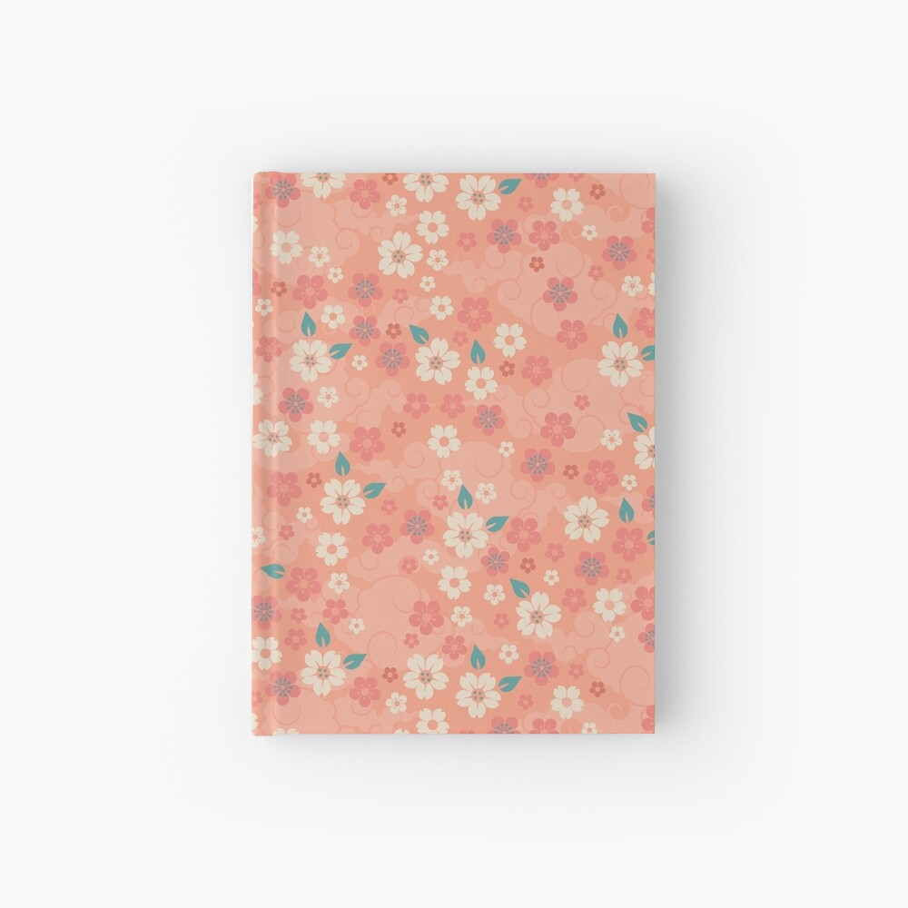 Cherry Blossoms in Peach Hardcover Journal
