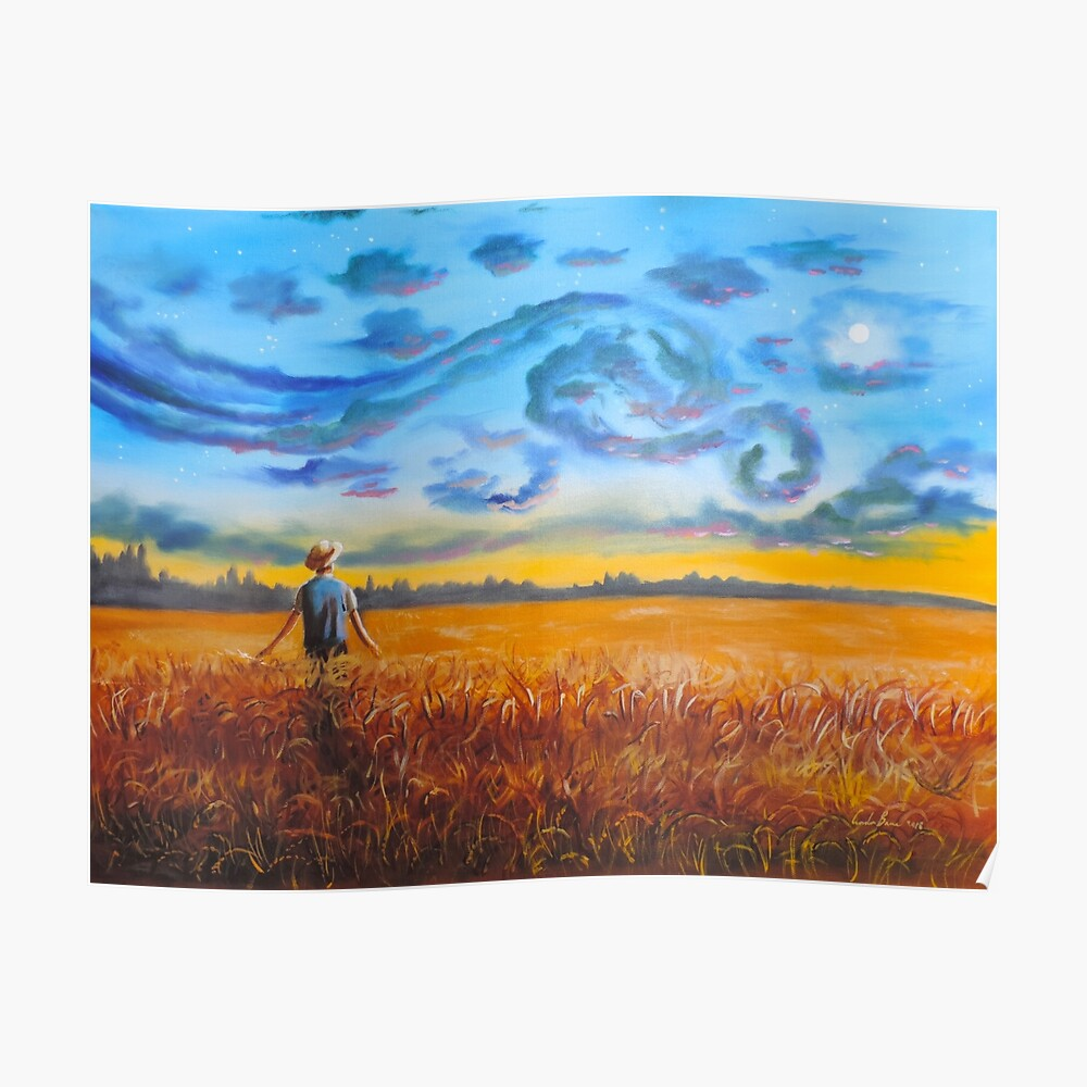 Van Gogh dreams of the starry night Gordon Bruce Poster