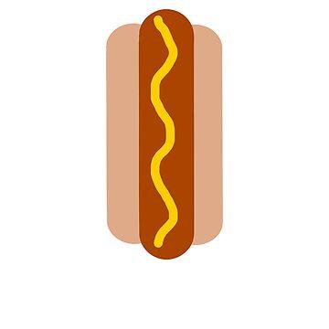 Funny BBQ Hot Dog With Mustard by ByTekk
