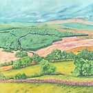 Borderlands (acrylic on canvas) by Lynne Henderson