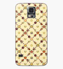 Sailor Moon Diagonal - Yellow Case/Skin for Samsung Galaxy