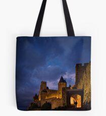 Carcassonne at Night Tote Bag