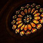 Like a Jewel from the Darkness - Glorious Stained Glass Window by Georgia Mizuleva