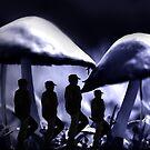 Night March Thru The Giant Mushrooms by CarolM