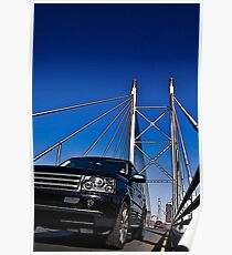 SUV on Nelson Mandela Bridge - In Cartoon Rendition v02 Poster
