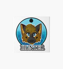 Hunter the Wolf Art Board