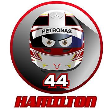 "LEWIS HAMILTON ""44"" 2018 by Cirebox"