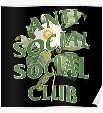 Anti Social Social Club Vintage flower Poster