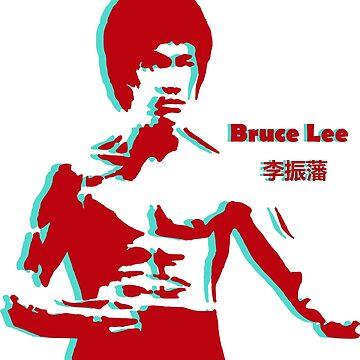 Bruce Lee 3d by Desenatorul1976