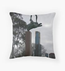 Dwarfed by the Hand of God Throw Pillow