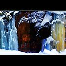 Flowing Colors in a Winter Landscape Poster by Wayne King